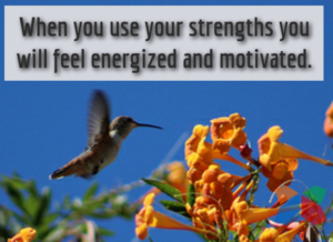 use your strengths - hummingbird